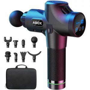 Pistolet de massage musculaire ABOX avec ses accessoires